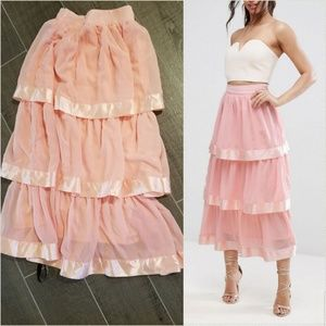 Pretty tiered maxi skirt